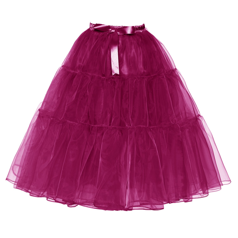 Udresses Girls Petticoat Skirts Tutu Crinoline Underskirt P9