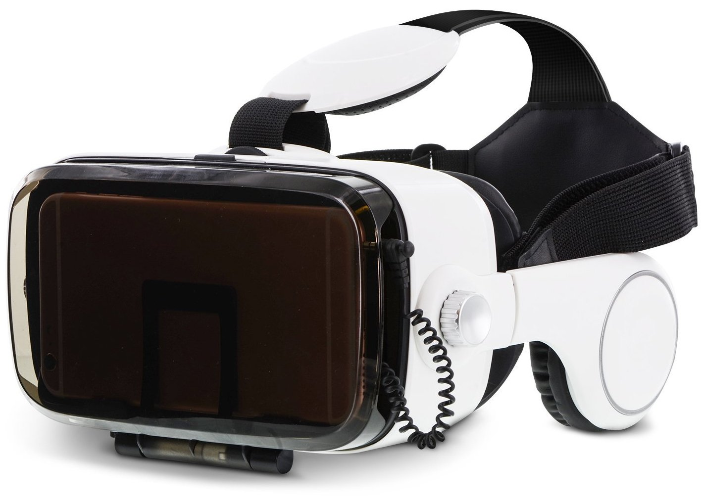 Aduro SoundVision Virtual Reality Glasses for 4.7 to 6 in Universal Smartphones w/Stereo Headset for 3D Pictures w/360 Panoramic Views & 3.5 mm Audio Jack