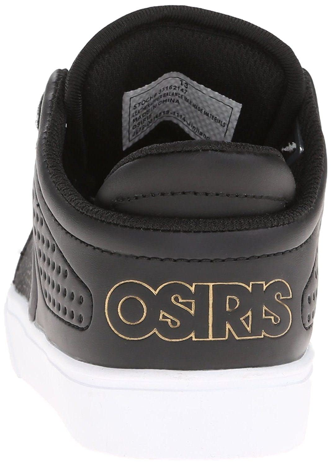 Osiris D3V Black Gold White Skate Trainers Shoes Boots 7