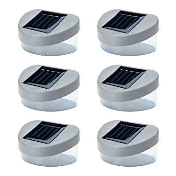6 x solar powered door fence wall lights led outdoor garden 6 x solar powered door fence wall lights led outdoor garden lighting aloadofball Image collections