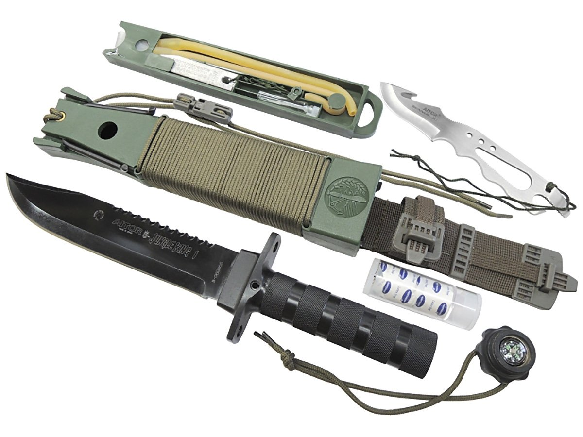 Aitor Cuchillo de supervivencia de rey de la selva con vaina ...