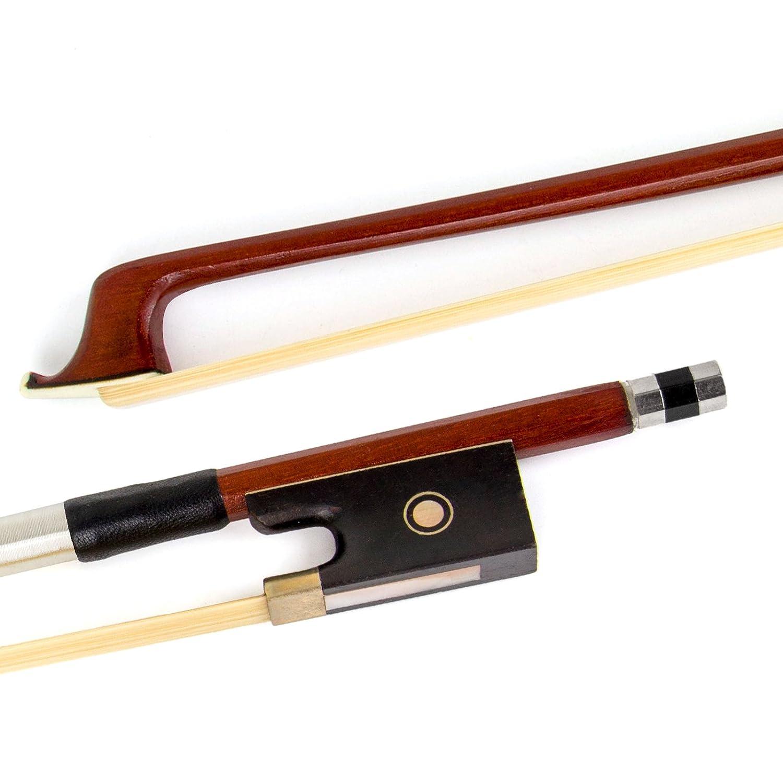 Kmise Grenouille en ébène 4/4Archet de violon en bois de Pernambouc Taille violon Pièces Lot de 1 Red 1