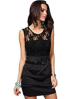 COCO clothing Kleider Damen Sommer Kleide Fashion Spitze Bandeaukleider  Bodycon Sexy Abendkleider 574446d611