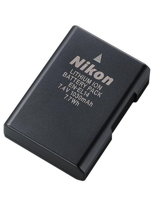 Nikon EN-EL 14 - Batería/Pila Recargable (1030 mAh, Ion de Litio, 7.4 V), Negro