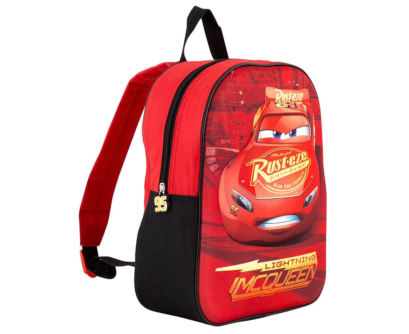 3D Effect Disney Lightning Mcqueen /'Piston Cup Champion/' Cars Kids Backpack
