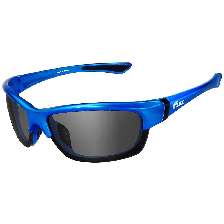 Icecube Flux Avento Unisex Polarized Sports Sunglasses with Anti-Slip, Lightweight Frame (Gloss Blue, Grey)