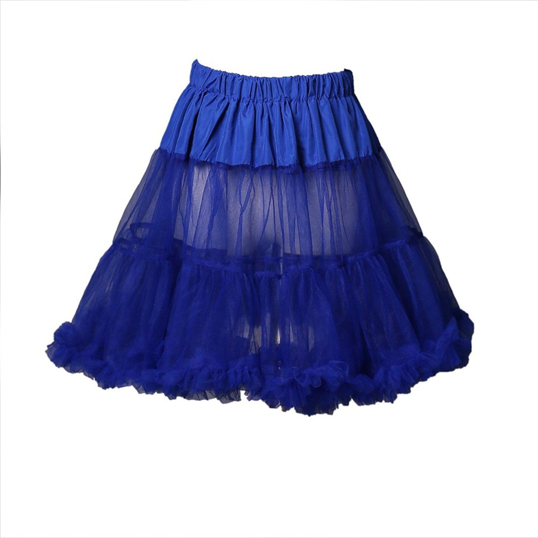 Boolavard 18 50s Retro Underskirt Unterrock Petticoat Rock Tutu Schwarz, Weiß, Rot, Rosa, Blau Weiß