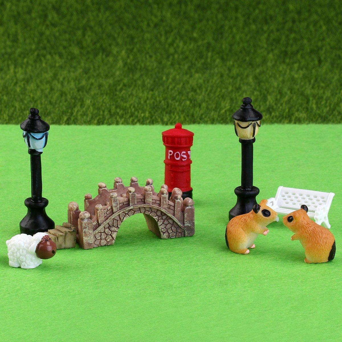 OVVO 58 piezas/set creativo miniatura hada jardín adorno casa de muñecas DIY Kit Decoración (colorido): Amazon.es: Hogar