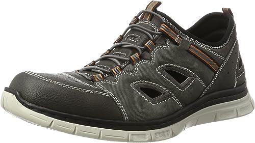 Rieker Herren B4877 Sneaker, Grau (anthrazitrauchrauch45 P8Vie