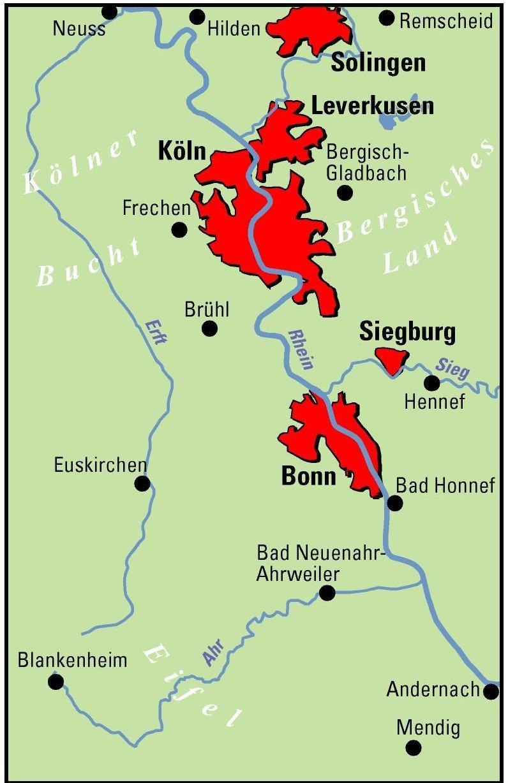 ADFC-Regionalkarte Köln/Bonn mit Tagestouren-Vorschlägen, 1:75.000 ...