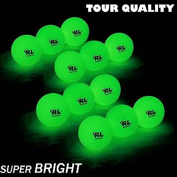 R&L - Pelotas de golf brillantes para deportes nocturnos - Bola de ...