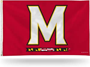 NCAA Rico Industries 3-Foot by 5-Foot Single Sided Banner Flag with Grommets, Maryland Terrapins