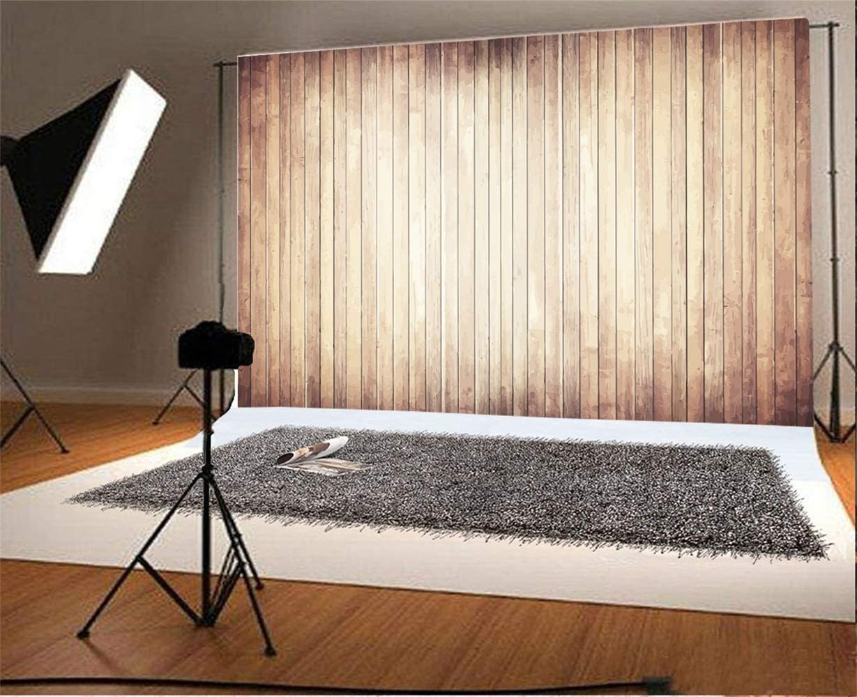 Polyester 8x6ft Grunge Retro Vertical Striped Wood Plank Photography Background Shabby Rustic Old Wooden Board Backdrop Children Adult Pets Artistic Portrait Shoot Nostalgia Countryside