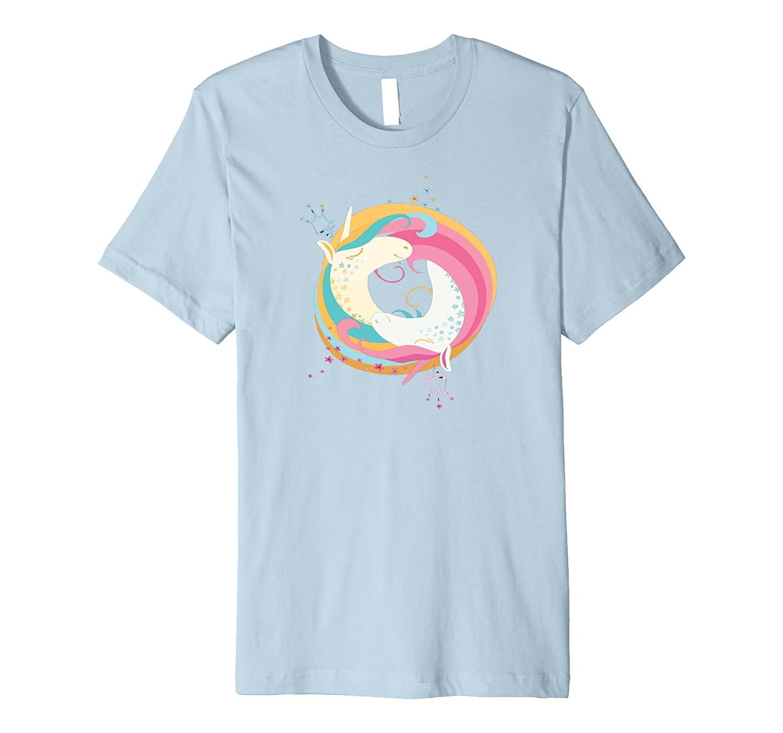 Unicorn Yin Yang Yoga t shirt-Teevkd