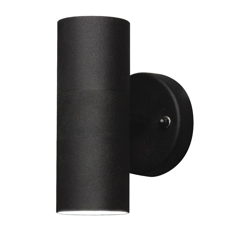 Konstsmide Modena 7571-750 Wandleuchte / B: 6cm T: 9cm H: 17cm / IP44 / lackiertes Aluminium / matt-schwarz