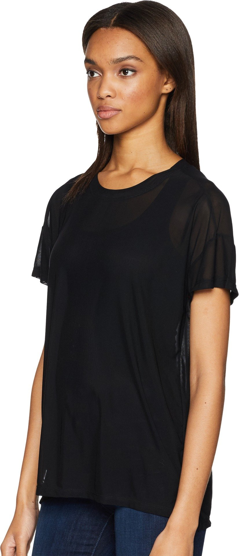 UNIONBAY Women's Fine Mesh Top, Black, Large by UNIONBAY (Image #1)