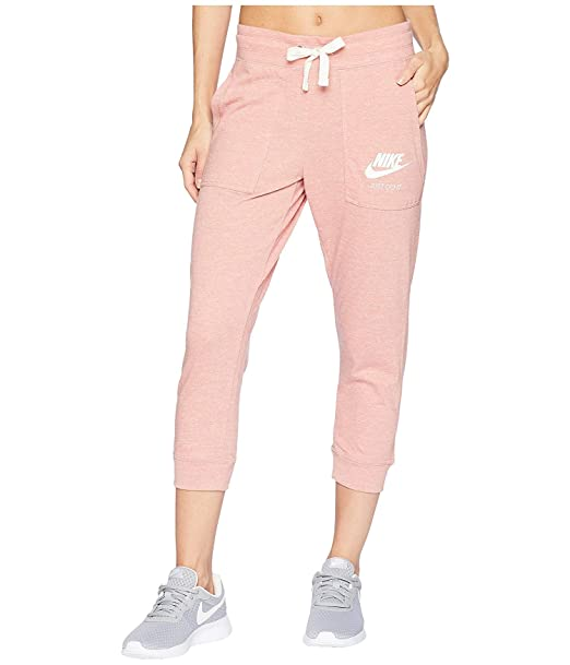 e398ae5d6ff8f Nike Women's Gym Vintage Capris (X-Small, Rust Pink/Sail): Amazon.ca:  Clothing & Accessories