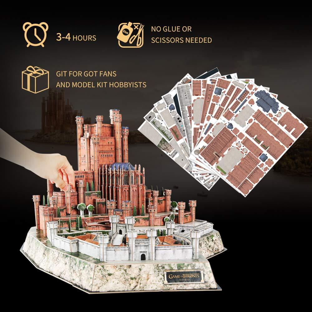 Song of Ice and Fire CubicFun Game of Thrones Puzzle 3D The Red Keep 314 Piezas Modelo Kit Regalo para Adultos y ni/ños Mayores de 8 a/ños Got