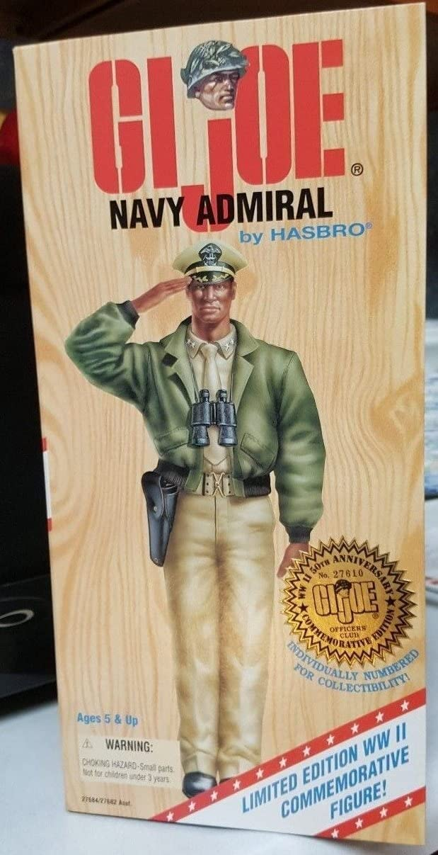 GI JOE Navy Admiral AA Officer WWII 50th anniversary Commemorative edition