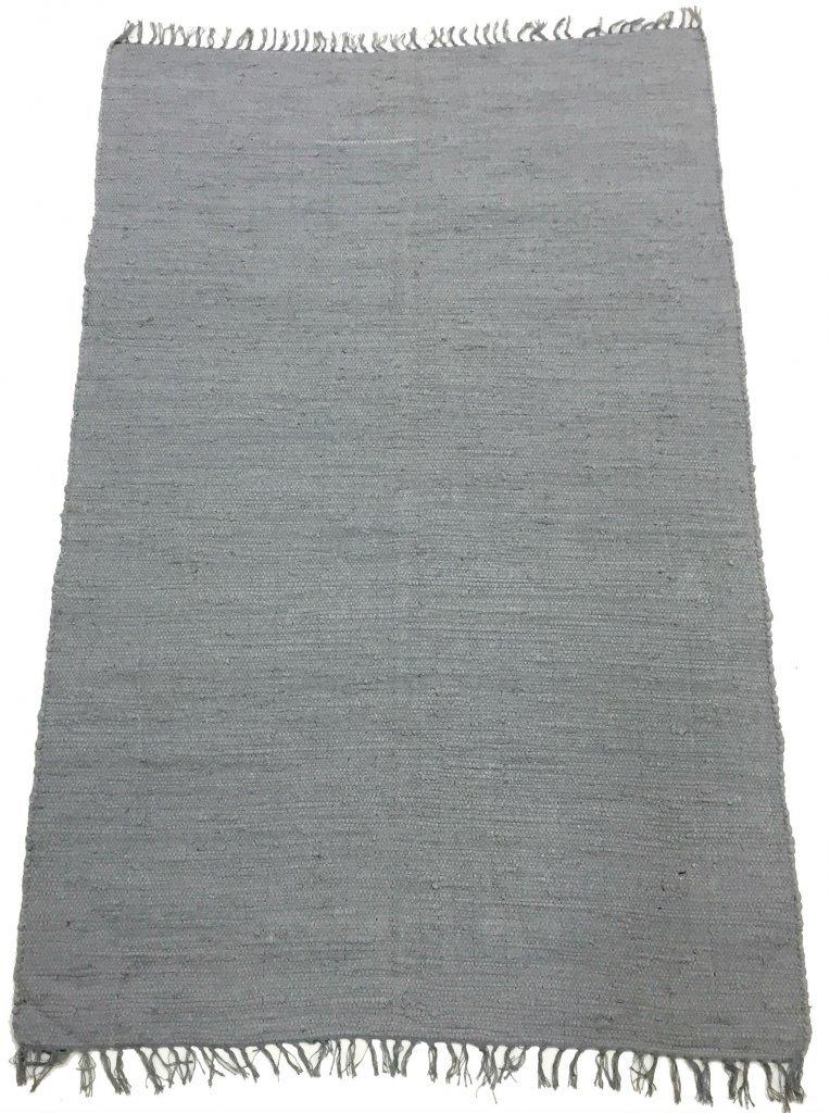 Trendcarpet Teppich 200 x 300 cm (baumwollteppich) - Silje (Grau) Größe 200 x 300 cm