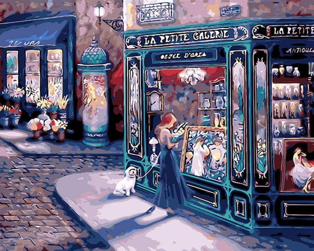Jayblabo'S Street Fairy Girls Alice Pintura De Paisaje Para Colorear Por Números Diy Venta Caliente Artesanía Regalo Cuadros Decoracion-40X50(Sin Marco)