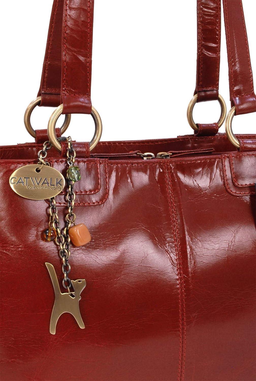 BELLSTONE Grande CATWALK COLLECTION Cuero vintage Bolso al hombro estilo shopper