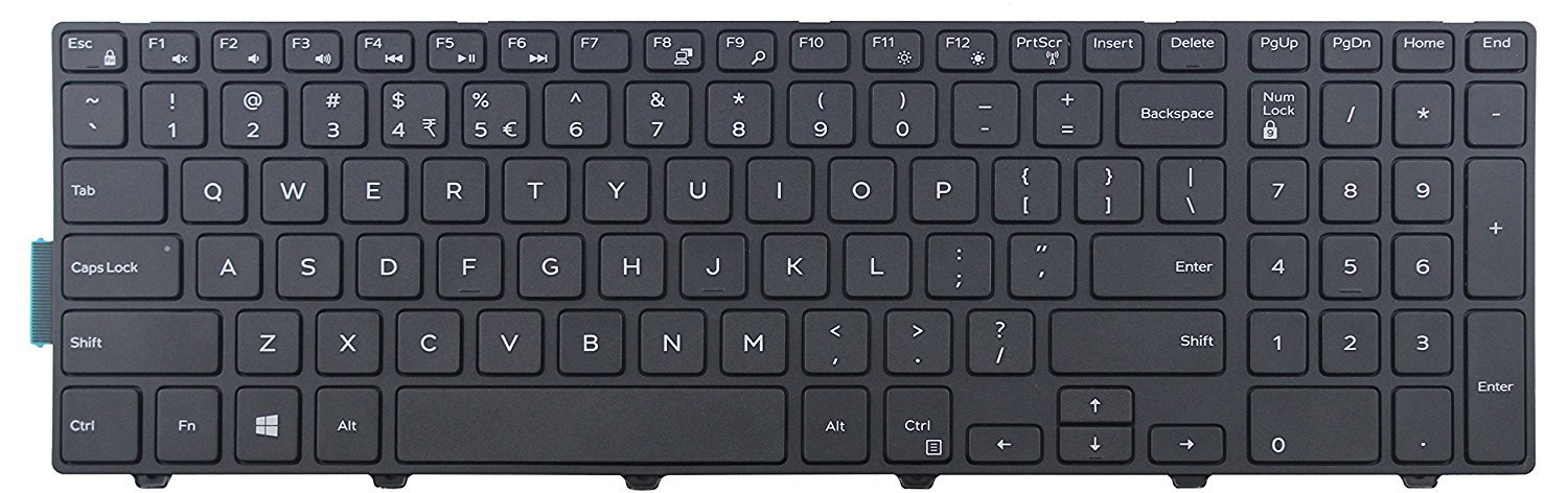 Original New for Dell Latitude 3550 keyboard US Black Non-backlit