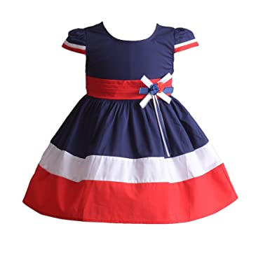 dd6b25b57 Cinda Girls Three Coloured Cotton Summer Party Dress  Amazon.co.uk ...