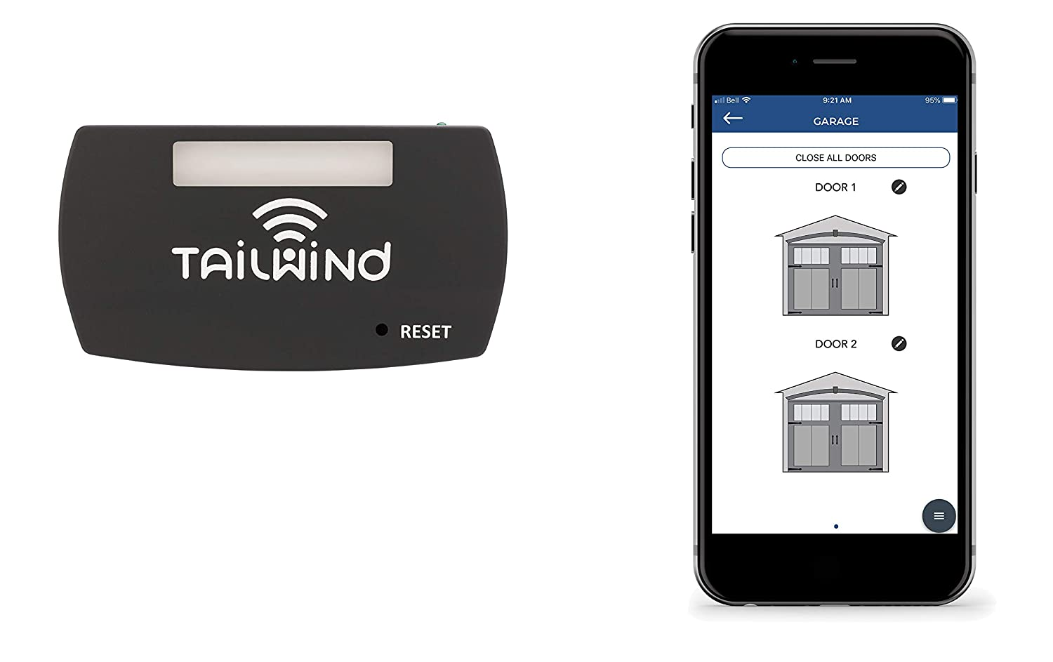 Tailwind iQ3 Smart WiFi Garage Door Opener - Internet Enabled Garage Door Remote Control Compatible With Your Smartphone, Alexa, Google Home, and Siri Shortcuts. Up to 3 Doors.