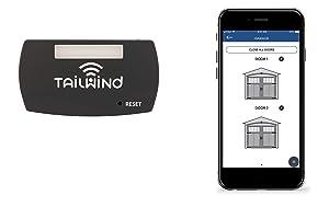 Tailwind iQ3 Smart WiFi Garage Door Opener - Internet Enabled Garage Door Remote Control Compatible With Your Smartphone, Alexa, Google Home, and Siri Shortcuts. Up to 3 Doors.