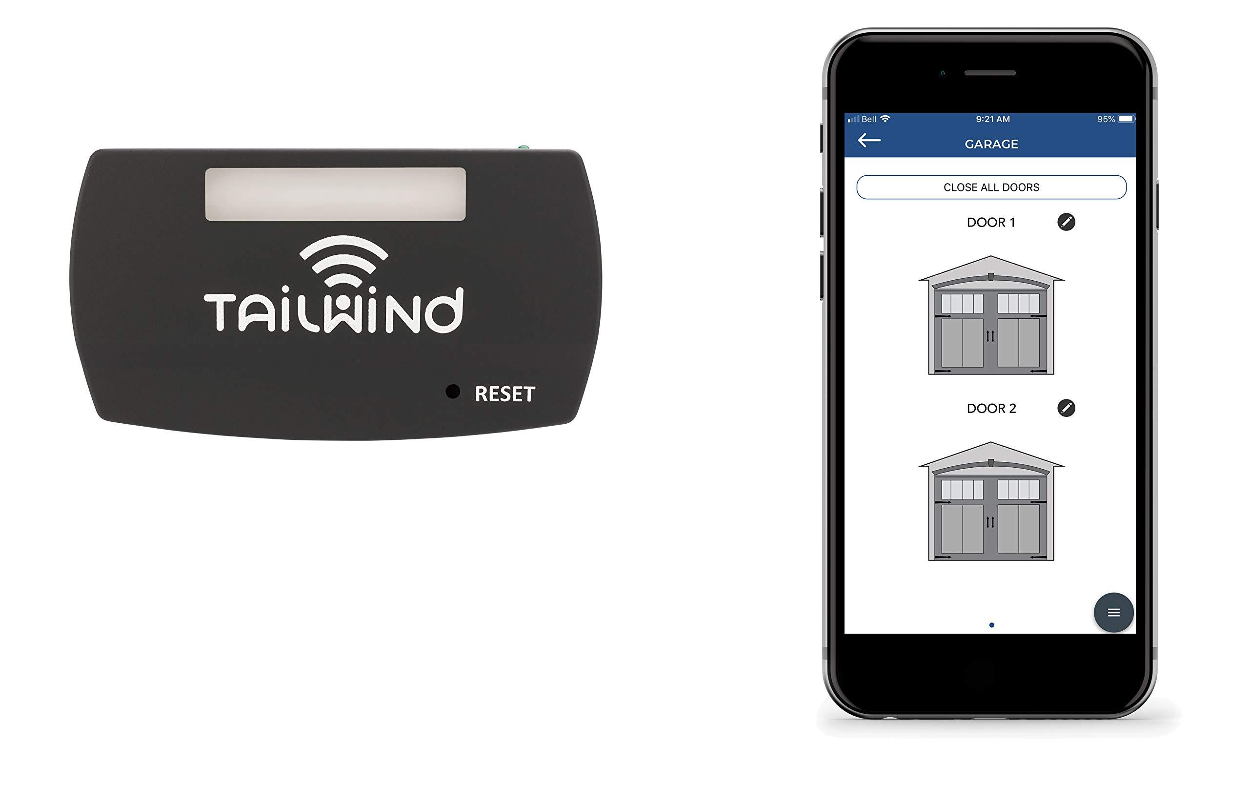 Tailwind iQ3 Smart WiFi Garage Door Opener - Internet Enabled Garage Door Remote Control Compatible With Your Smartphone, Alexa, and Google Home Assistant. No Hub Needed. Up to 3 Doors.