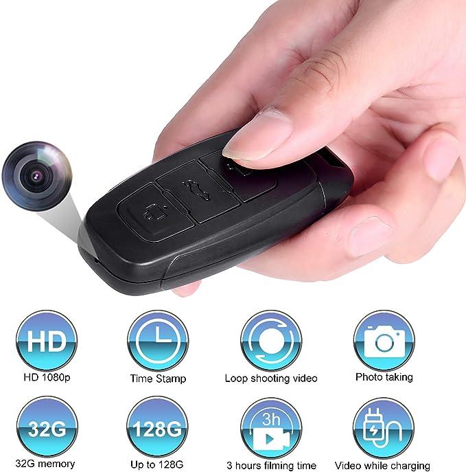 32GB Mini Auto Camera Car Key Fob Chain Ring DVR Security Video Camera UK