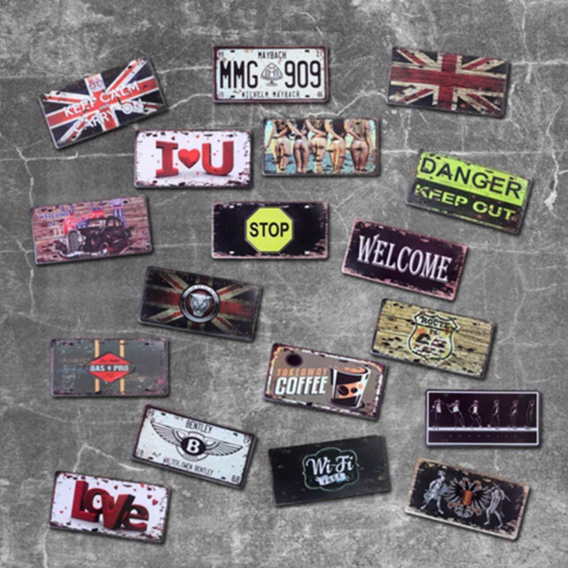 fghfhfgjdfj Garaje De Metal De Metal Placa De Matr/ícula Vintage Decoraci/ón del Hogar Cartel De Chapa Bar Pub Garaje Decorativo Letrero De Metal Placa De Pintura De Metal