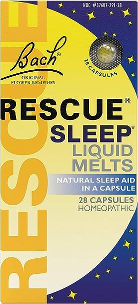 RESCUE Sleep Liquid Melts Natural Sleep Aid Capsules, 28 Count