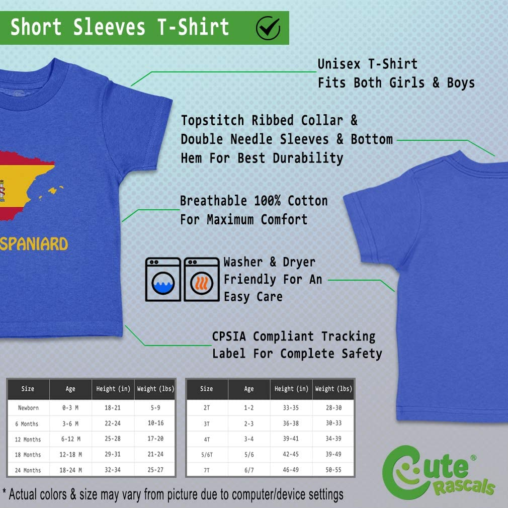 Custom Baby /& Toddler T-Shirt Little Spanish Cotton Boy Girl Clothes