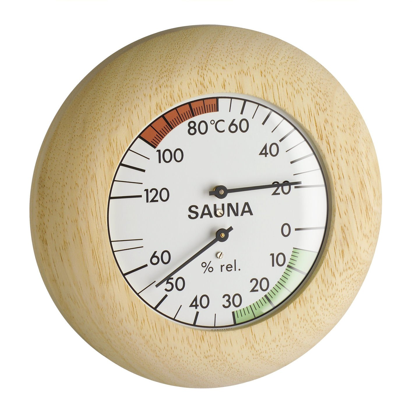 Blooming Weather 40.102800000000002 Sauna Thermometer and Hygrometer - Wood TFA Dostmann