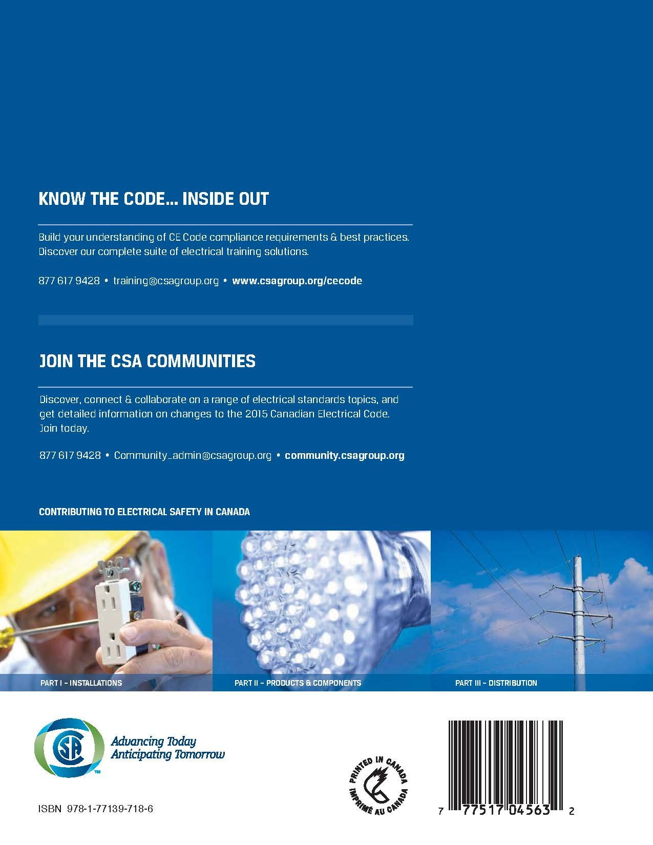 BRAND NEW: 2015 Canadian Electrical Code, Part 1 C22.1-15 English ...