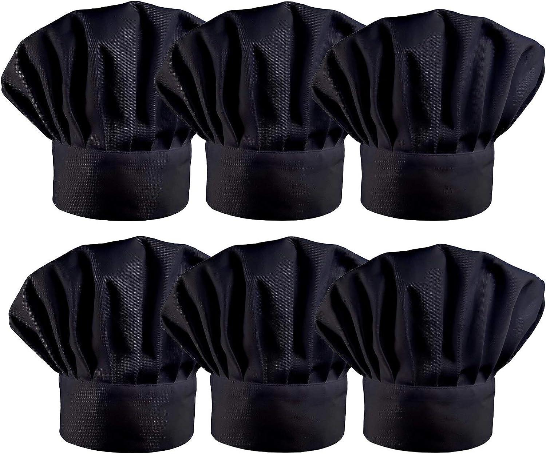 Trendy Apparel Shop Restaurant Beanie Adjustable Elastic Band Chef Hat