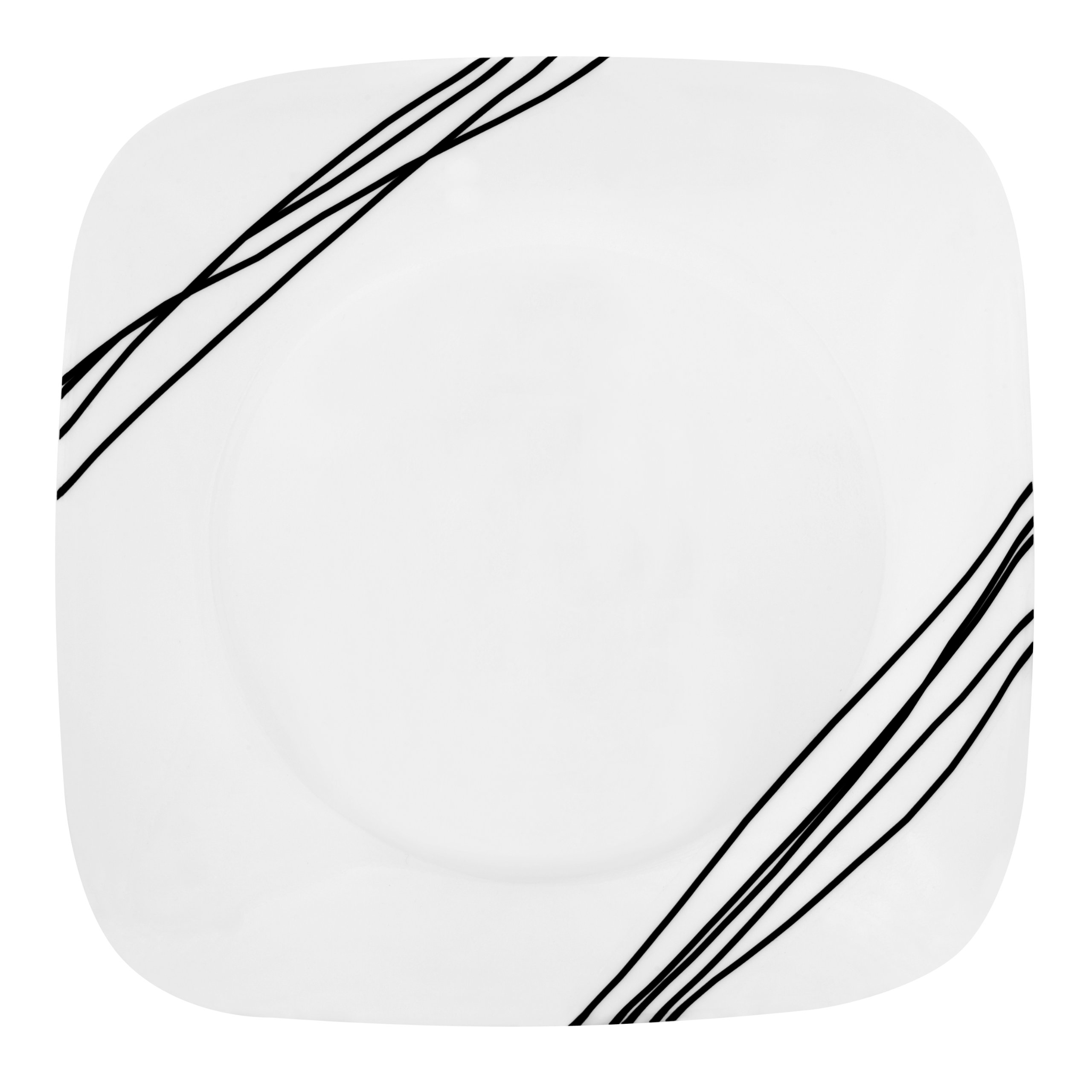 Corelle Simple Sketch Luncheon Plate, 8-3/4-Inch, Square