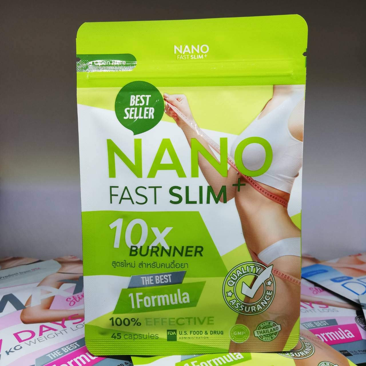 nano fast slim 10x burner ingredients