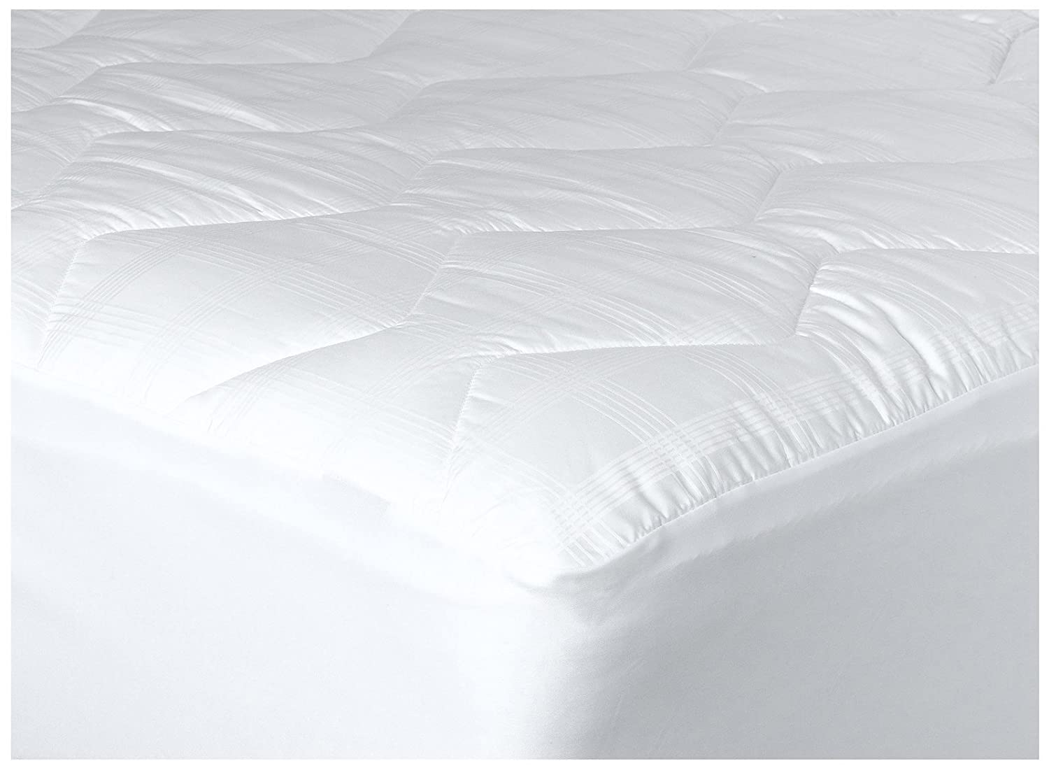 Newpoint International 370-Thread Count Mercerized Cotton Mattress Pad, California King, White Newpoint Home MPCK02-W