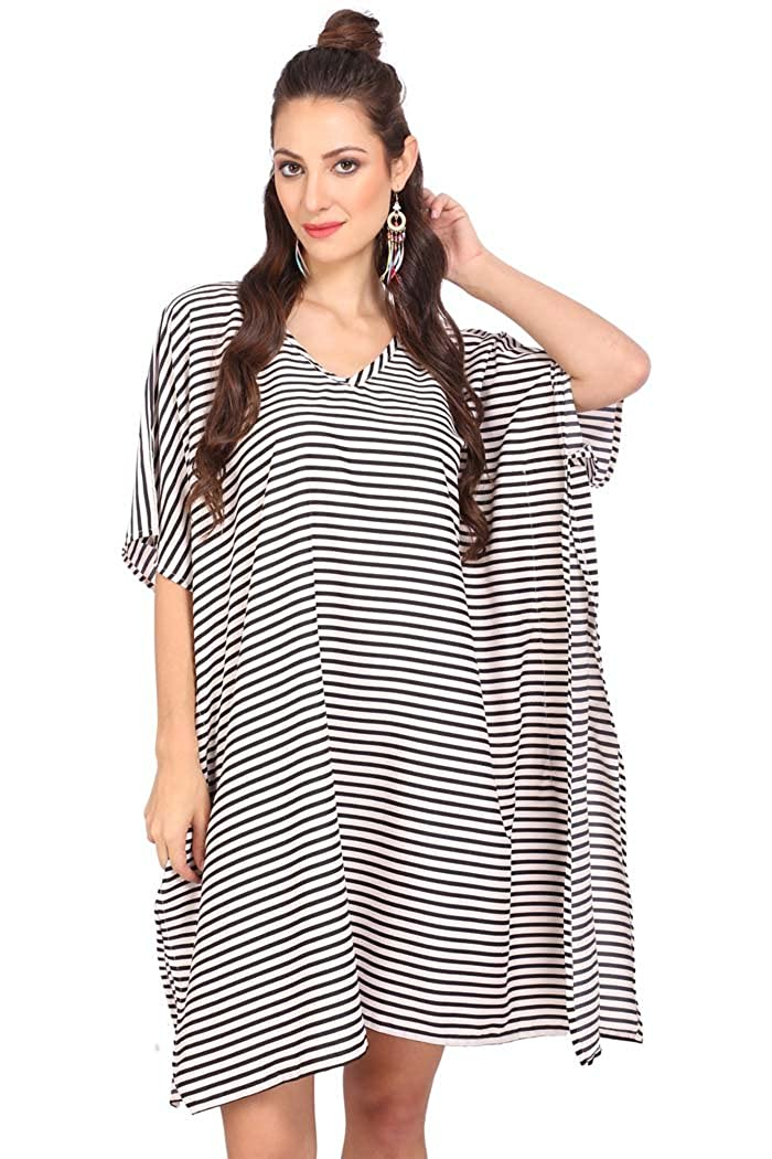 c9053930a9ef Miss Lavish Womens Kaftan Tunic Kimono Dress Summer Evening Plus Size Beach  Cover up 10-