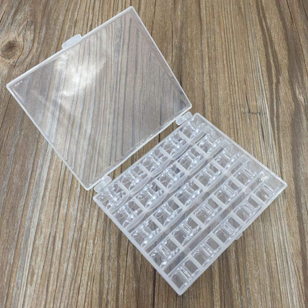 Xiangscz per Macchina da Cucire H01 Confezione da 25 rocchetti Vuoti con Scatola portaoggetti