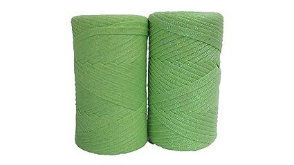 Set of 2 Tape Yarn (150 Yards Each) / Cotton Tape Yarn/Bulky Yarn/Fast  Track/Crochet / Knitting Yarn/XL Yarn/Modern Crochet/Ribbon Yarn (Apple  Green)