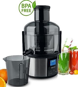 1500 W Exprimidor eléctrico licuadora Power Juicer Juicer – Exprimidor de fruta frutas Prensa pantalla digital
