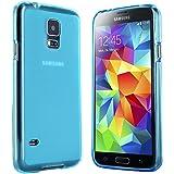Samsung Galaxy S5 Mini Hülle in Blau - Silikonhülle Case Schutzhülle Tasche für Galaxy S5 Mini