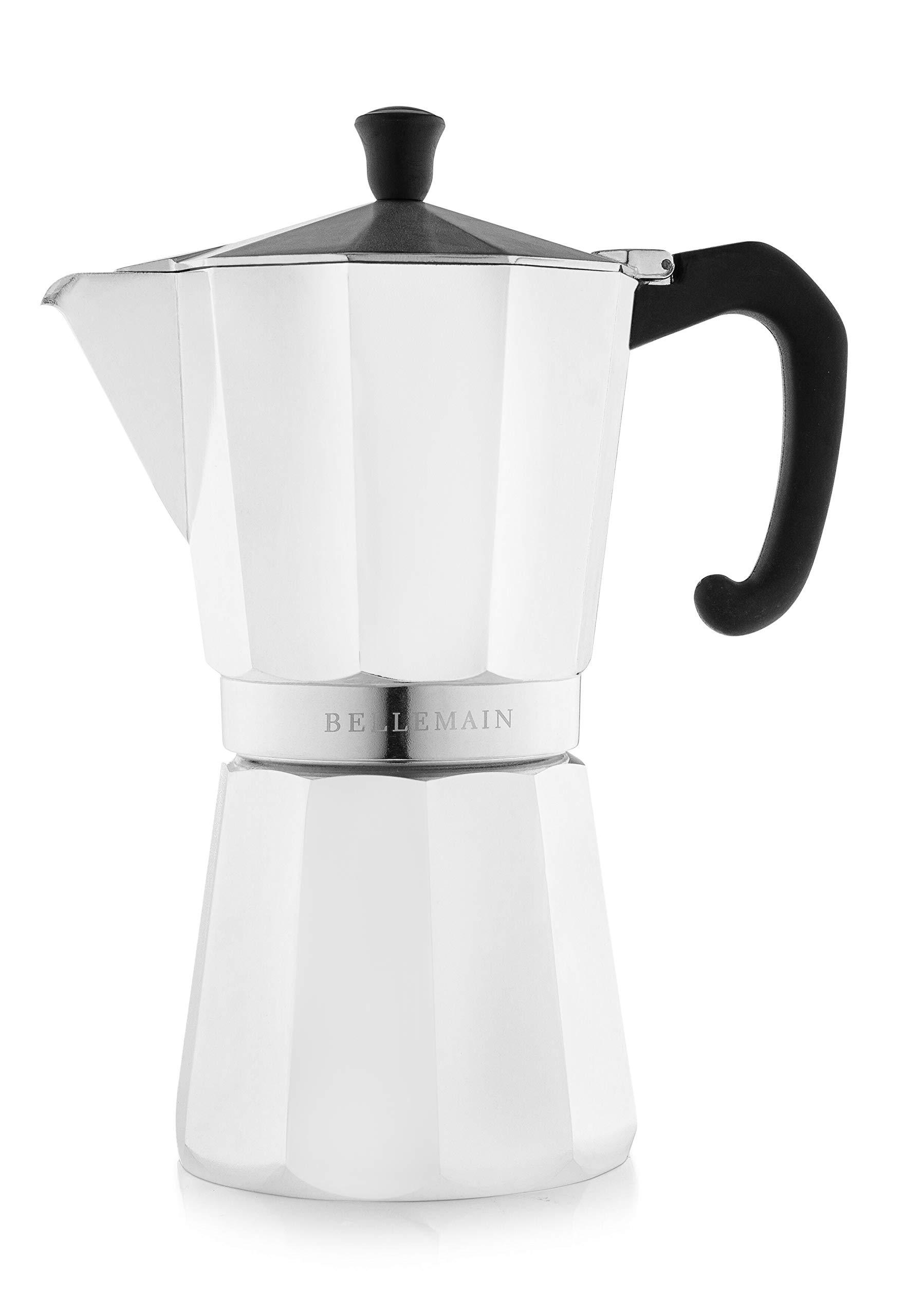 Bellemain Stovetop Espresso Maker Moka Pot Black, 6 Cup