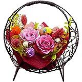 プリザーブドフラワー 花つづり(なでしこ色) 結婚祝い 誕生日 還暦祝い 送別 退職祝い
