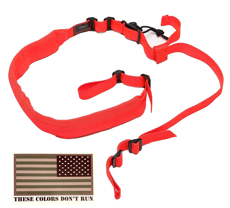 Viking Tactics Original Padded 2 Point Sling & American Flag Decal (Blaze Orange)
