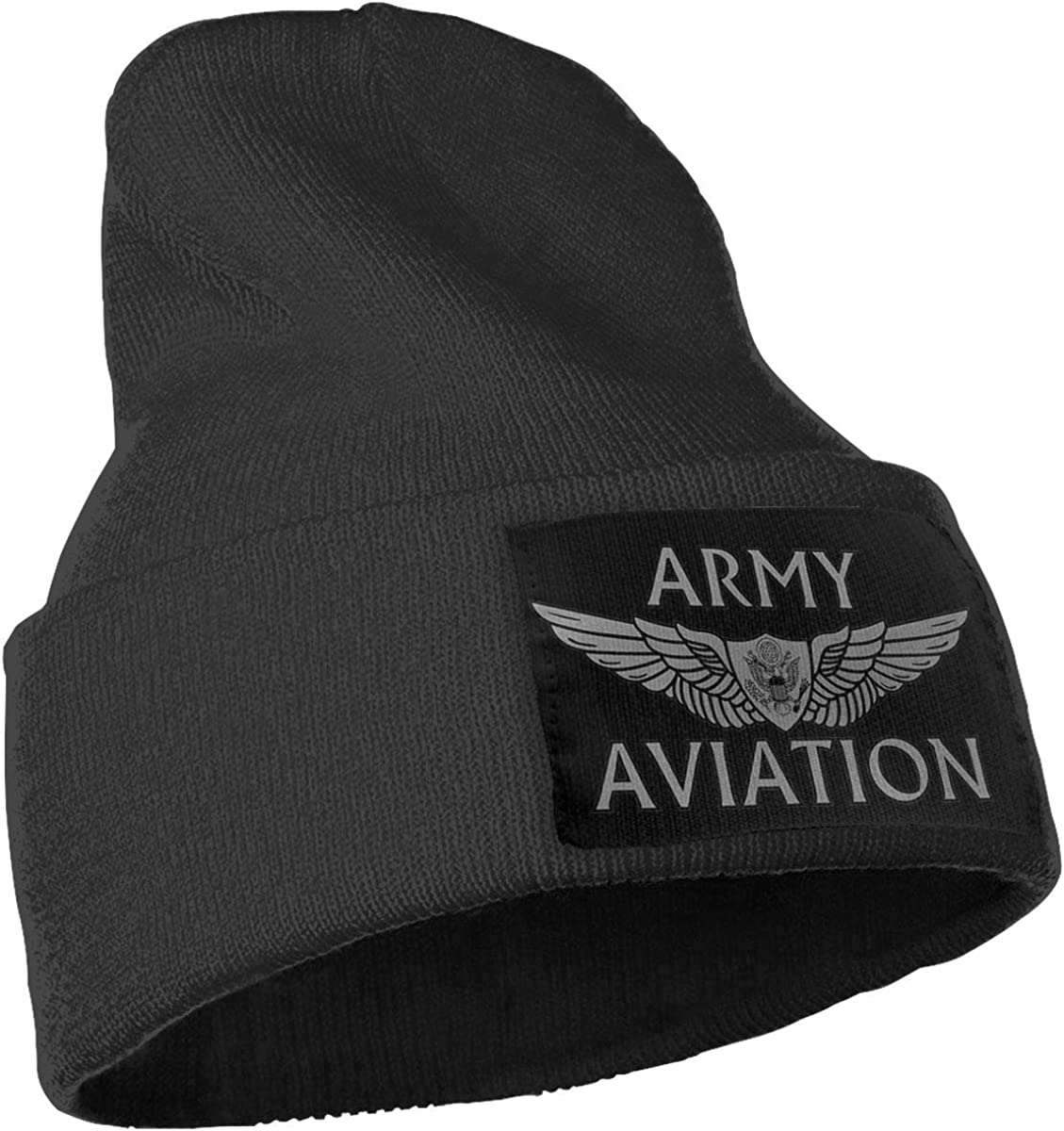 Feeke Mens/&Womens US Army Aviation with Aircrew Wing Beanie Cap Thick,Soft,Warm Slouchy Knit Hat Winter Soft Ski Cap